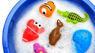 Learn Colors with Animals and Foam Farm and Shark Surprise Toys for Kid Child