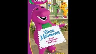 Closing Barneys Best Manners Your Invitation Fun Vhs