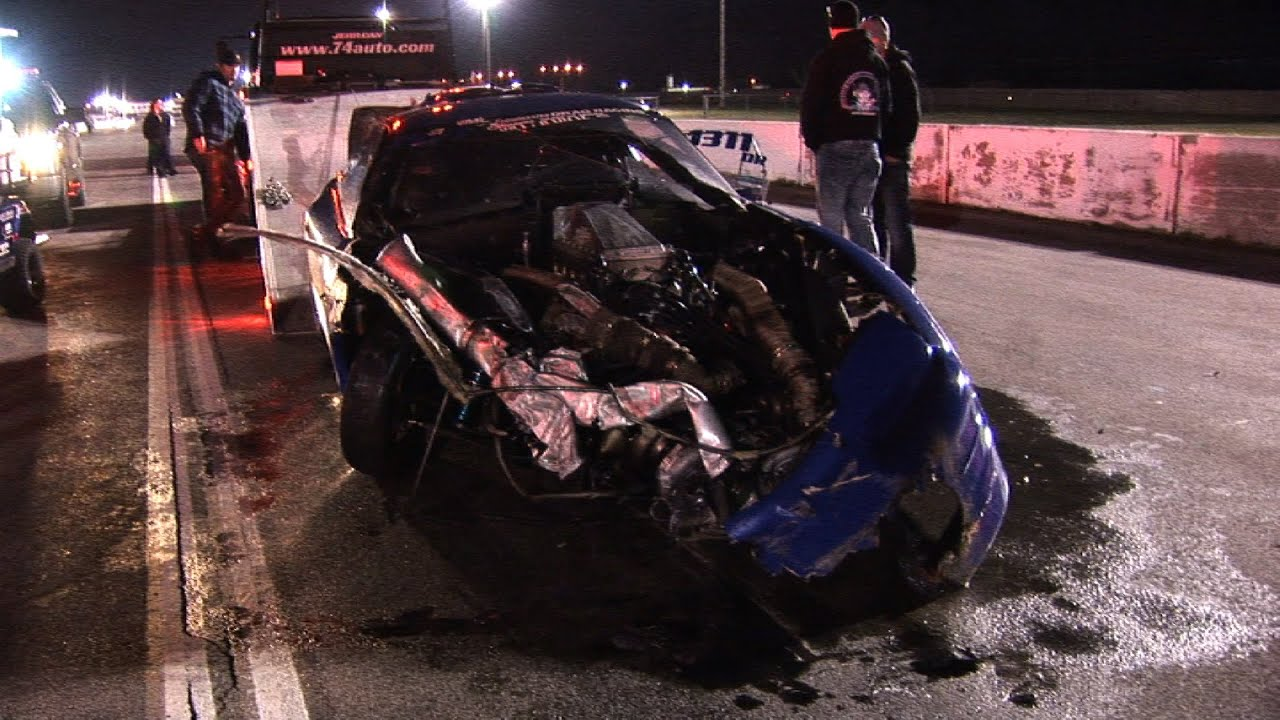 Muscle Car Drag Race Crashes