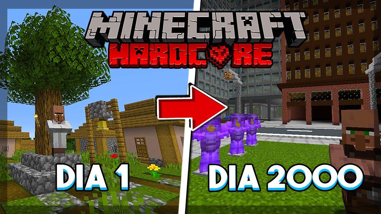 🔥 ELE SOBREVIVEU 2000 Dias no Minecraft Hardcore