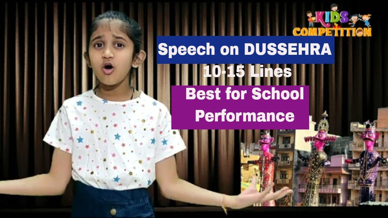 Speech on Dussehra | Speech on Lines for Dussehra Speech in English for  Kids in School
