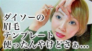 眉毛テンプレートで綺麗な基本の形を学べると思ってた[ダイソー100均一] thumbnail