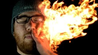Struck by Fire: Firebending @ 2500 FPS (Feat. Grant Thompson & HouseholdHacker)