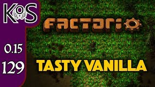 Factorio 0.15 Tasty Vanilla Ep 129: TRANSCONTINENTAL RAILROAD - Expensive Recipes, Let