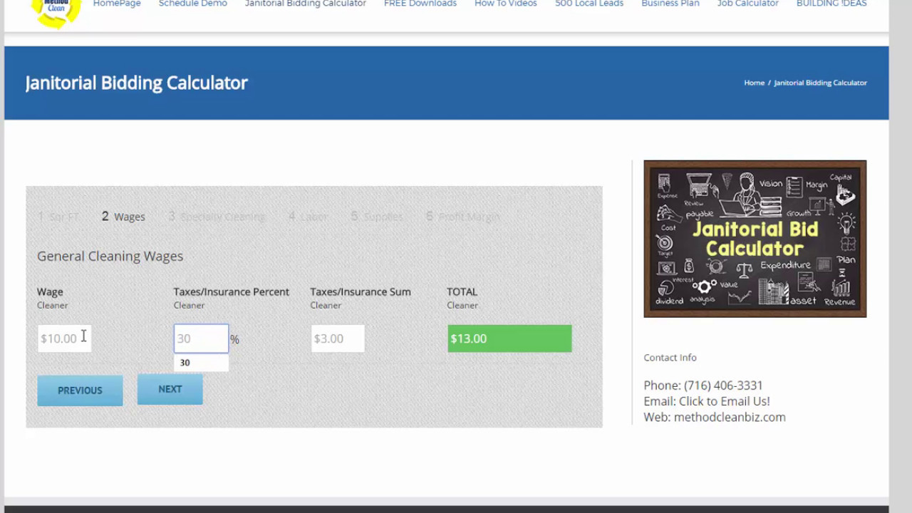 Janitorial Bidding Calculator - YouTube