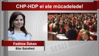 Fadime Özkan CHP HDP el ele mücadelede