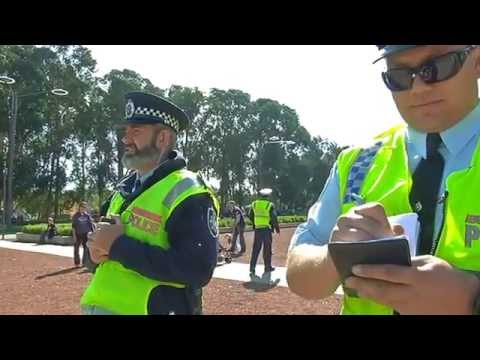 FEDERAL POLICE ATTEMPT TO SEIZE NITV NEWS FOOTAGE OF FRONTIER WARS CANBERRA MARCH