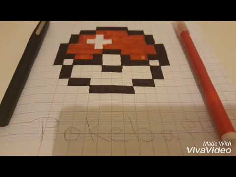 Pixel Art Grand Carreau N1 Pokeball Youtube