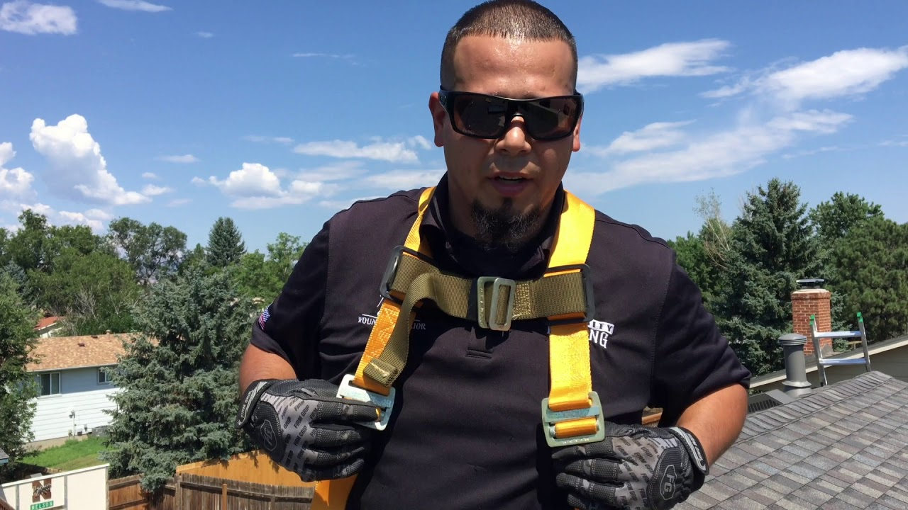 How To Use A Roof Safety Harness Fall Protection Youtube