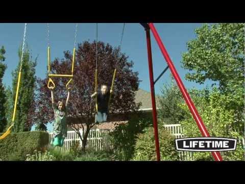 Lifetime Heavy-Duty A-Frame Swing Set