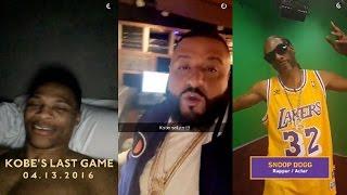 Russell Westbrook, Dj Khaled, Snoop Dogg React To Kobe Bryant Scoring 60 In Final NBA Farewell Game
