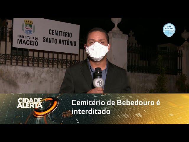 Cemitério de Bebedouro é interditado pela Prefeitura por instabilidade no solo