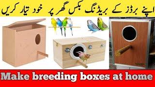 how to make nesting boxes Best Budgie Breeding Box in urdu hindi