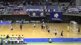 興南 VS 香川中央 前半戦 2014年 南関東総体 ハンドボール選手権大会