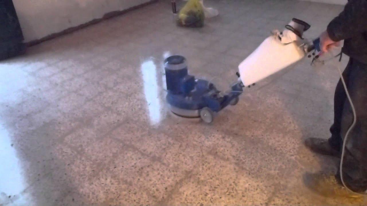 Levigatura pavimento youtube - Piastrelle di graniglia ...