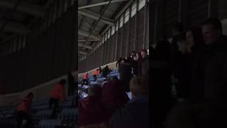 Coventry fan knocks a Sheffield United fan out at the Ricoh tonight.