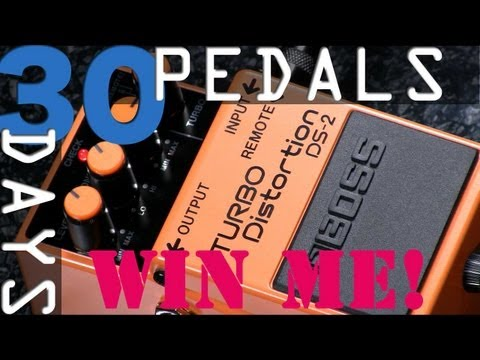 Boss DS-2 Turbo Distortion Bitesize Review - 30 Days, 30 Pedals - WIN!