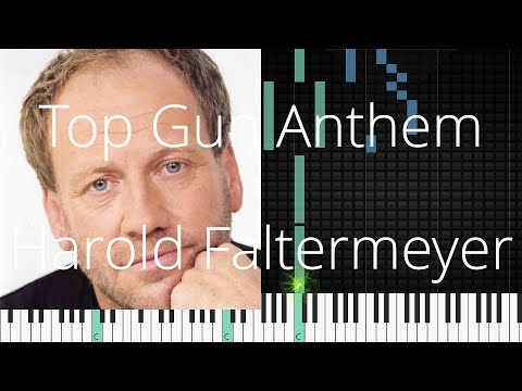 🎹 Top Gun Anthem, Harold Faltermeyer, Synthesia Piano Tutorial