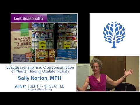 AHS17 Lost Seasonality And Overconsumption Of Plants: Risking Oxalate Toxicity - Sally Norton