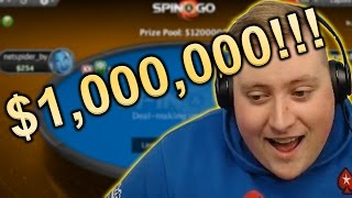 $1,000,000 SPIN & GO OBSERVED LIVE ON STREAM!!