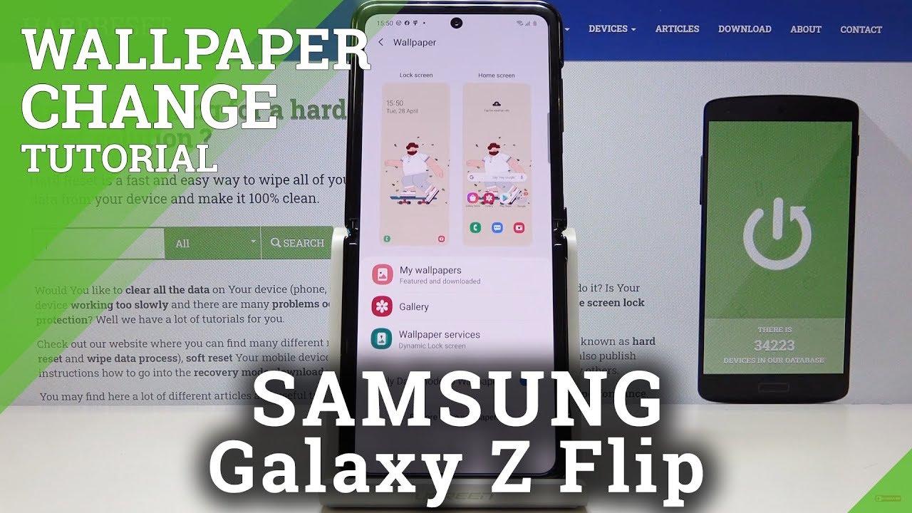 How To Change Wallpaper In Samsung Galaxy Z Flip Desktop Update Youtube