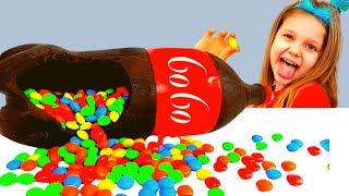Алиса и игра в шоколад и сода челлендж с папой