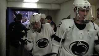 Men's Hockey vs. AIC: Game-Winning Goal & Postgame Locker Room