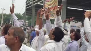 MP RajKumar Saini landing at rohtak rally in chopper