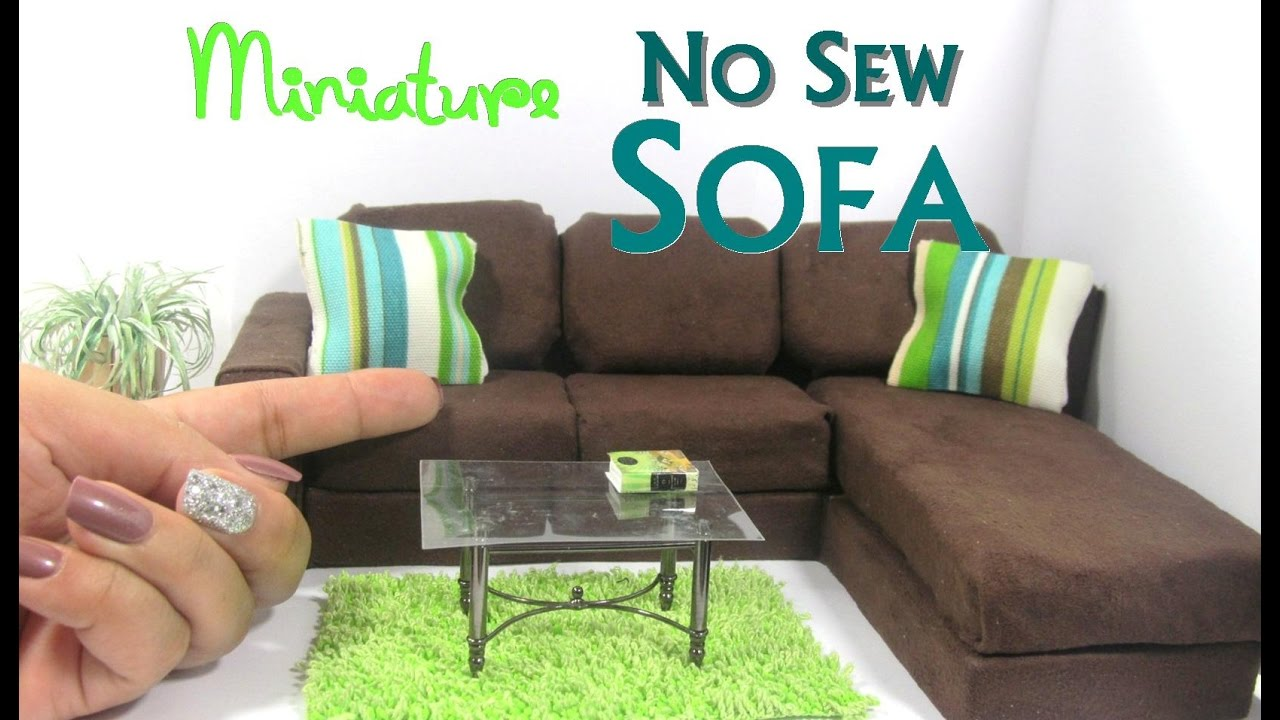 Chaise Design Miniature Diy No Sew Modern Sectional Sofa Chaise Lounge Dollhouse Furniture Miniature Furniture