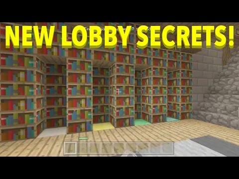Minecraft Console - NEW LOBBY SECRETS - HOW TO OPEN ALL BOOKSHELF'S + NEW METHOD TO ESCAPE LOBBY