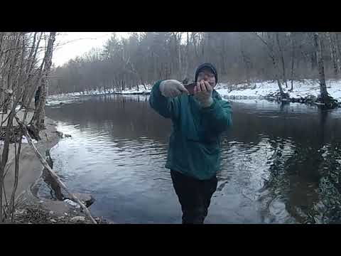 Trout Fishing Naugy CT, 30 Minutes Of Fly And Spinning Action!