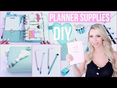 DIY Planner Supplies! CUTE & EASY!