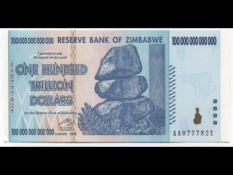 100 Trillion Zimbabwe Dollars | Reserve Bank Zimbabwe | Zim Dollar 40 Cents
