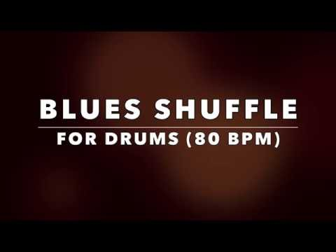 Blues Shuffle Drum Backing Track for Drummers (NO DRUMS)