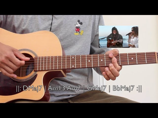 Best Part Guitar Chords Daniel Caesar Ft Her Guitar Hours