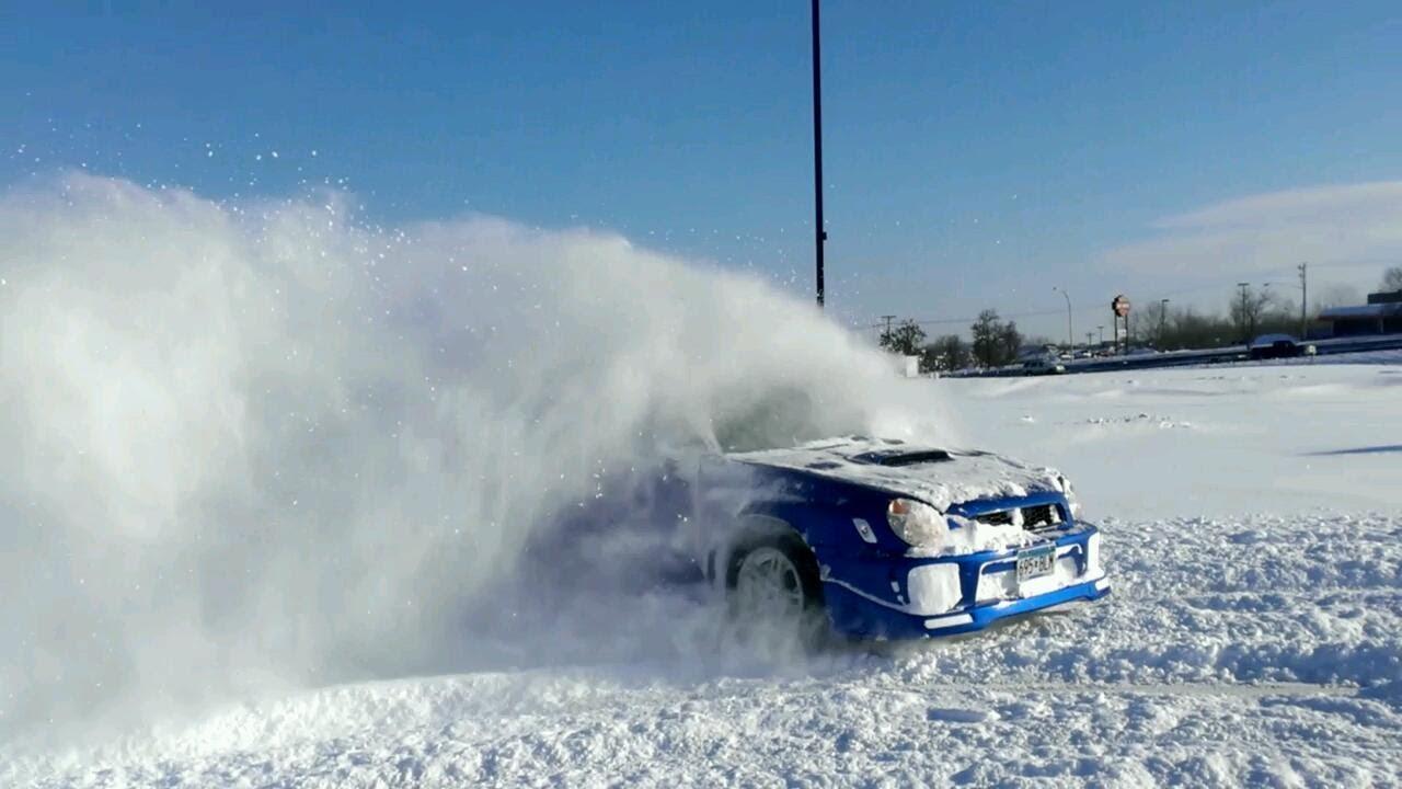 Subaru Impreza Wrx Snow Drift Youtube