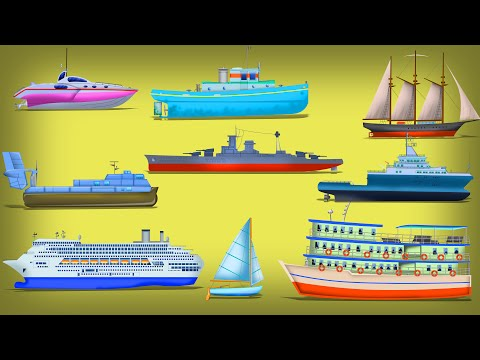 Water Vehicles | Vehicles For Kids | Ships For Children