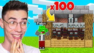 DOMEK PALIONA WYPEŁNIONY PILLAGERAMI w Minecraft! *ŚMIESZNE*