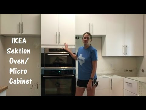 how to install the ikea sektion high cabinet with oven and micro combo
