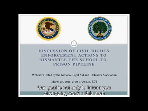 Civil Rights Enforcement Actions to Dismantle the School-to-Prison Pipeline