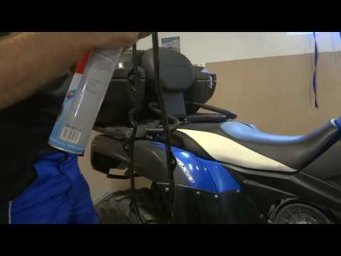 ATV Cleaning and ispecting CVT CF MOTO
