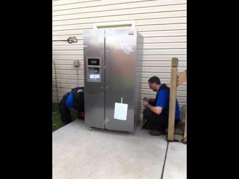 fridge moving upstairs youtube. Black Bedroom Furniture Sets. Home Design Ideas