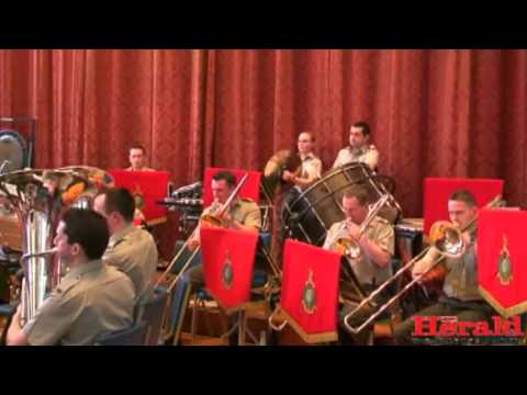 Band of Her Majesty's Royal Marines play Gibraltar