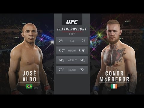 EA SPORTS UFC 2 - UFC 194: José Aldo vs. Conor McGregor Gameplay [1080p HD]