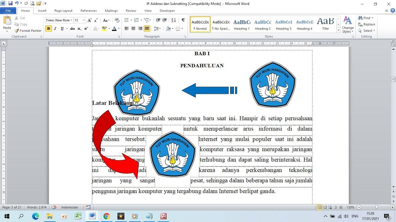 Cara Mengatur Posisi Gambar di Word