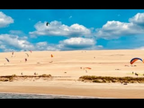 Pilat, Excursion sur le Bassin d'Arcachon : Arc en ciel de Parapentes à la dune du Pilat 4K