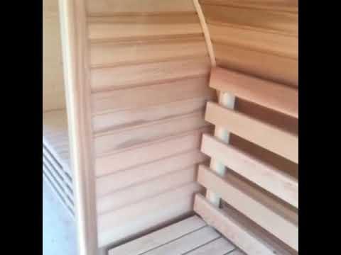 Sauna Da Esterno Con Stufa A Legna E La Musica