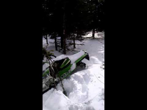 3/21/15 Pittsburg NH Abandoned Snowmobile
