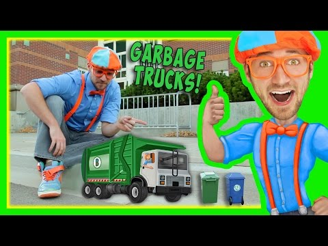 Thumbnail: Garbage Trucks For Kids With Blippi | Educational Toy Videos For Children