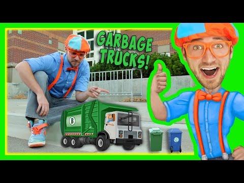 Garbage Trucks For Kids With Blippi | Educational Toy Videos For Children